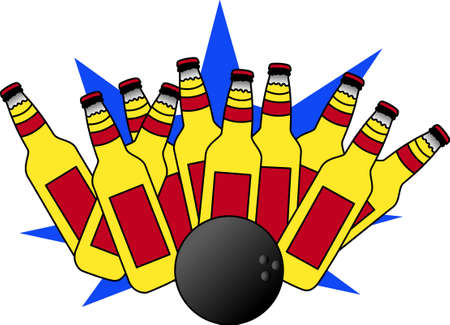 all right: We are all bowlers trying to reach our goal but it is only when we hit the right pin, the rest will come tumbling down.