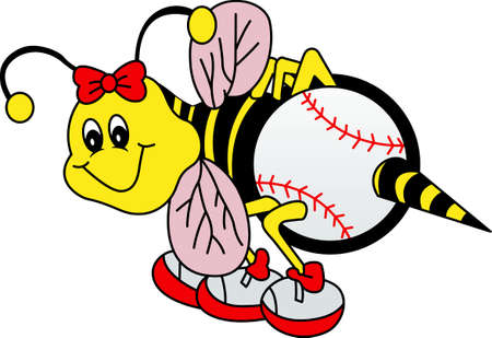 yellow jacket: Team work makes the dream work. Add this image to a hat or shirt for the softball team.