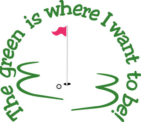 Golf works makes the dream work.  Add this image to a hat or shirt for the team.