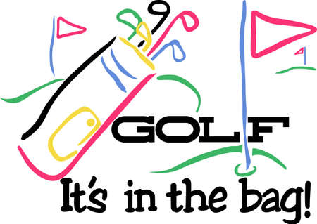 club scene: Golf works makes the dream work.  Add this image to a hat or shirt for the team.