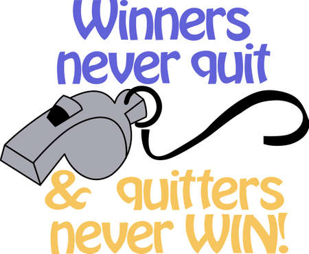 Good coach says anytime winners never quit  quites never win