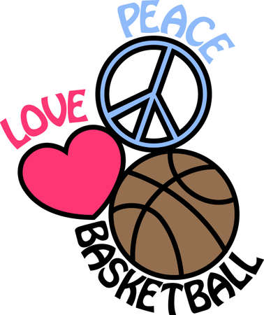 Show your love for basketball with this fun design.  It offers endless possibilities on t-shirts, sweatshirts and more. Иллюстрация