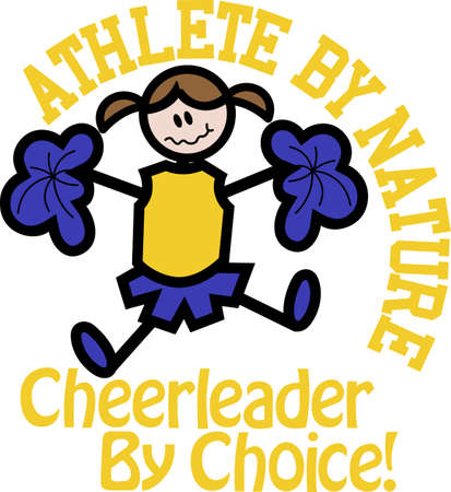 pep: cheerleader is good entertainment for any sports. Perfect to add to a bag or shirt.