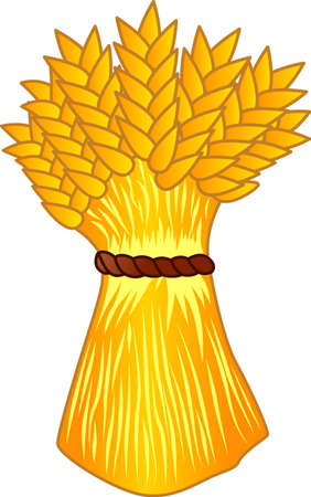 decal: Celebrate the bounty of harvest.  This bunch of golden grain is lovely on kitchen gear and cooking tools.  Print on decal paper and fire onto dinnerware ceramic!