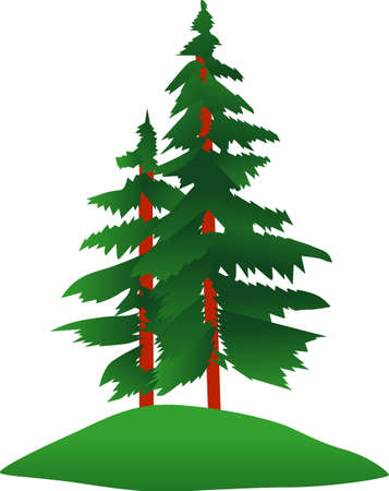 stately: Stately evergreens add a lovely touch of nature to your projects.  We love this design on everything from bags, apparel and outdoors gear.