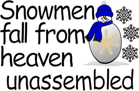 Here is lovely word art for winter creations complete with a smiling snowman!  Lovely for screen printing applications.