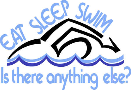 Looking for the perfect Birthday or Christmas gift Embroider this design on clothes, towels, gym bags, quilts, t-shirts, jackets or wall hangings for your swimmer!