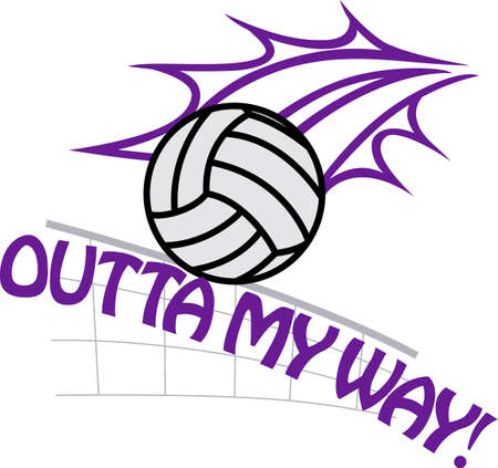 Looking for the perfect Birthday or Christmas gift Embroider this design on clothes, towels, gym bags, quilts, t-shirts, jackets or wall hangings for your volley ball player!