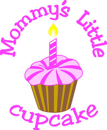 carries: A simple cupcake carries big wishes for a happy birthday.  Create something amazing for a special birthday girl!