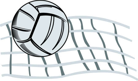 Volleyball is an sports competition team sport in which two teams of six active players Ilustrace