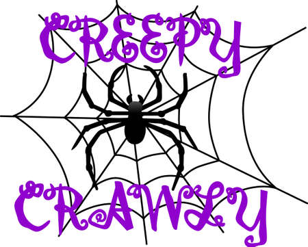 widow: Our big, black spider weaves a scary web for Halloween creations.  Just perfect for invitation print art or shirt screen printing.