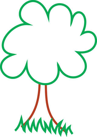 woodsy: Bring woodsy appeal on your home projects with this tree design!