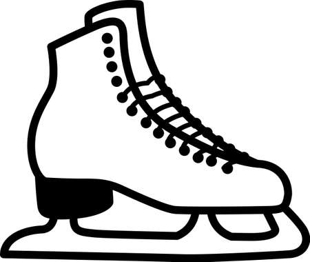 Grab your friends or family and lace up your skates! Take a spin on the ice with this design on clothes, towels, bags, t-shirts and jackets for your skater!