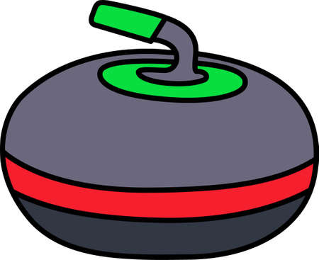 Curling is a sport in which players slide stones on a sheet of ice towards a target area which is segmented into four concentric circles. Ilustração