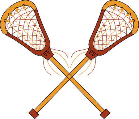 Lacrosse is where we live. Life is just a place where we spend time in between games. Illustration
