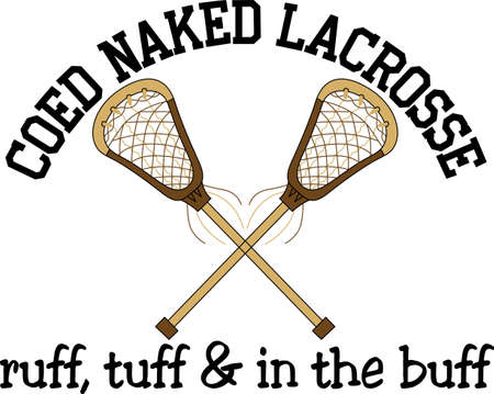 Team work makes the dream work.  Add this image to a hat or shirt for the lacrosse team. Ilustrace