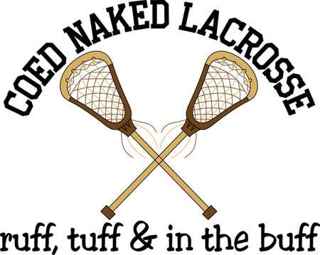 Teamwork maakt de droom werk. Voeg deze afbeelding naar een hoed of overhemd voor het lacrosse team.