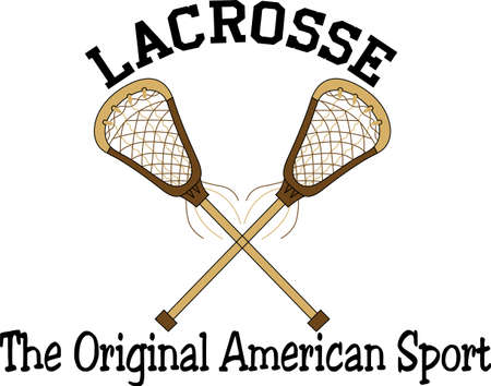 Team work makes the dream work.  Add this image to a hat or shirt for the lacrosse team. 向量圖像
