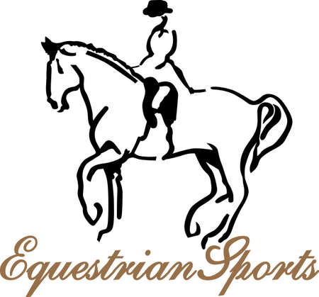 equestrian: A good rider can hear his horse speak but a great equestrian can hear his horse whisper. Add the whisper to your creations with this artistic equestrian design.