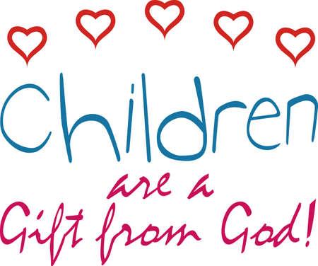 Laat de kinderen zien hoe waardevol ze zijn met dit ontwerp op t-shirts, sweatshirts, quilts, wandkleden en nog veel meer.