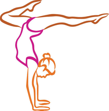 Looking for the perfect Birthday or Christmas gift Embroider this design on clothes, towels, pillows, gym bags, quilts, t-shirts, jackets or wall hangings for your gymnast!