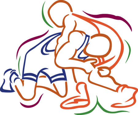Team work makes the dream work.  Add this image to a hat or shirt for the wrestling team.