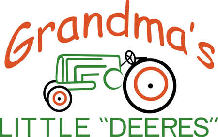What a perfectly cute design for a very special little farmer!  Great tee shirt art for a farming celebration or a baby gift. Illustration