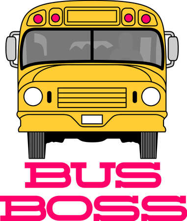 You entrust your childs safety to their bus driver each day.  This design is perfect for thanking them! They will love it! Perfect for a school bus or day care driver for kids. Иллюстрация