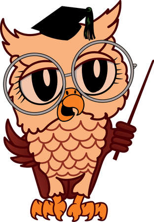 A cute owl is a great design for a juvenile project.  イラスト・ベクター素材
