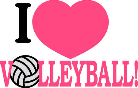 Looking for the perfect Birthday or Christmas gift Embroider this design on clothes, towels, pillows, gym bags, quilts, t-shirts, jackets or wall hangings for your volley ball player!