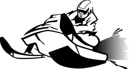 excitement: Snowmobiling provides the excitement of motorsports in a winter environment. Bring the spirit of winter into your projects with this design! Illustration