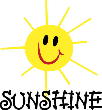 Bring some glowing sunshine into any projects with this very happy face smiley sunshine! Ilustração