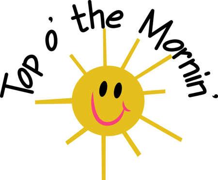 Breng wat gloeiende zon in een project met deze zeer blij gezicht smiley zon!