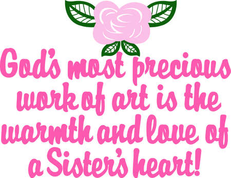 keepsake: This heartwarming sayings design will make a great keepsake for grandmas on framed embroidery,t-shirts, sweatshirts, towels and more Illustration