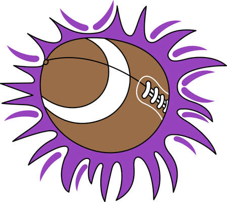 pigskin: Looking for the perfect Birthday or Christmas gift Embroider this design on clothes, towels, gym bags, quilts, t-shirts, jackets or wall hangings for your football player!