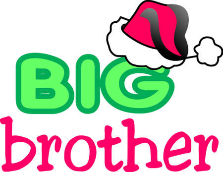 big brother: Heres to spreading a little merry! Get creative on your holiday projects with this design on sweaters, sweatshirts and more.