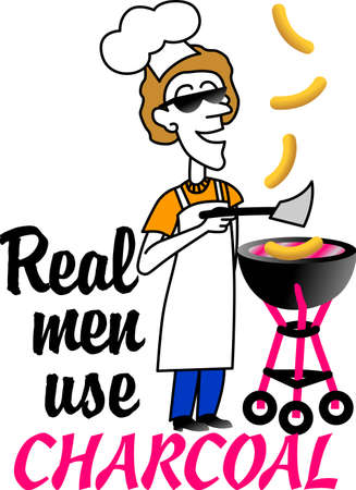 The wonderful world of home appliances now makes it possible to cook indoors with charcoal and outdoors with gas. Illustration