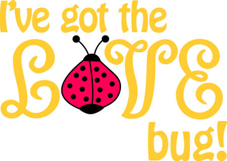 Ladybug lovers will enjoy this versatile and fun design that offers endless possibilities on any project. Ilustracja