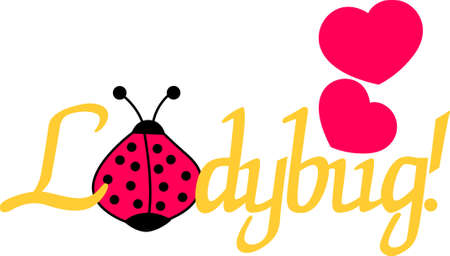 lady beetle: Ladybug lovers will enjoy this versatile and fun design that offers endless possibilities on any project. Illustration