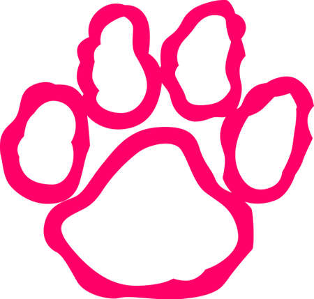 pawprint: Let this adorable design leave a paw print on your heart.  Customize gifts for your dog lovers with this design on T-shirts, Caps, Pajamas, Bags, Shirts, and Dog Bedding.