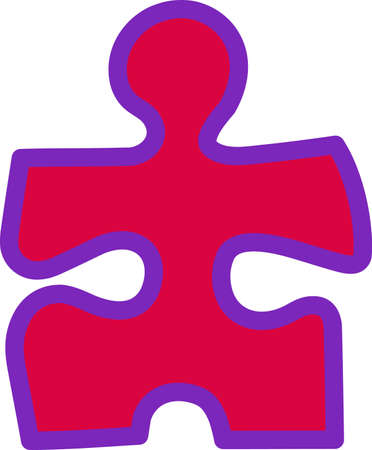 The missing piece of the puzzle could be here!  Complete puzzle with this colorful puzzle piece.