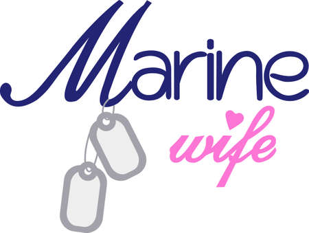 Being a Marine wife is a privilege and an honor! Show your pride in your husbands service with this design on t-shirts, sweatshirts and more.
