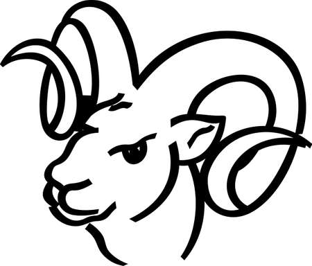 rams: A great design for the Rams fans out there!  Get your favorite team logo on t-shirts, retro shirts, polos and more! Illustration
