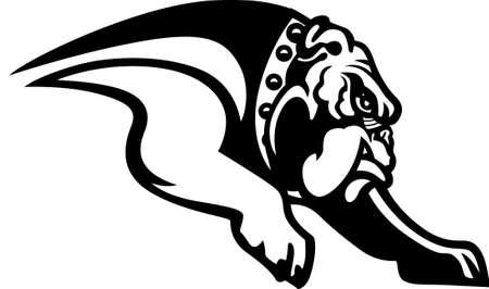 Un gran diseño para los aficionados de los dogos por ahí! Obtener el logotipo de su equipo favorito en camisetas, camisas, polos retro y mucho más! Foto de archivo - 51212539