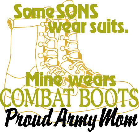 Having a son in the Army is a privilege and an honor! Show pride in your son's service with this design on t-shirts, sweatshirts and more. 向量圖像