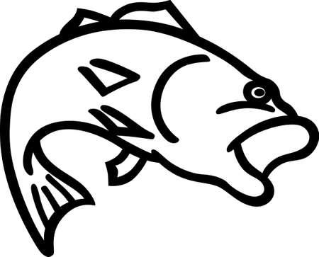 3 188 bass fish cliparts stock vector and royalty free bass fish rh 123rf com Fishing Pole Clip Art Black and White Black and White Lure Clip Art