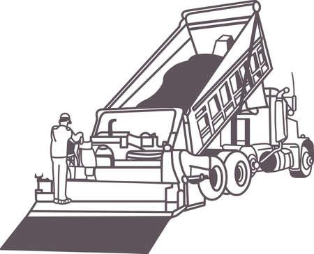 Voeg toe aan het arsenaal van de trucks voor uw voertuig liefhebbers, met dit ontwerp op t-shirts, kinderkamer decor en meer. Stock Illustratie