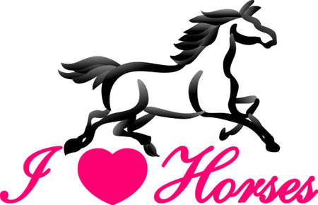 personalize: Personalize equestrian clothing with grace, beauty and power. Use this design on horse riding gear including saddle pads, saddle cloth and riding jackets. Illustration
