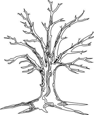 De komst van kale bomen in het landschap is een zeker teken dat de winter komt eraan met een eigen bijzondere schoonheid. Mooi ontwerp voor textiel decoraties en waar de verbeelding leidt!