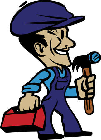 tradesman: Seek the help of our expert repairman to get the job done right.  Great art for a repairmans business card!